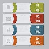 Infographic. Design number banners template graphic or website layout Royalty Free Stock Photos