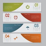 Infographic. Design number banners template graphic or website layout Royalty Free Stock Image