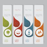 Infographic. Design number banners template graphic or website layout. With icon Stock Photography