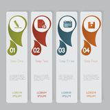 Infographic. Design number banners template graphic or website layout Royalty Free Stock Photo