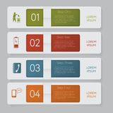 Infographic. Design number banners template graphic or website layout Stock Photography