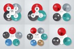 Infographic design- och marknadsföringssymboler Arkivfoto