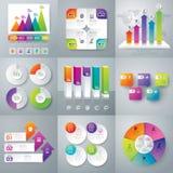 Infographic design- och marknadsföringssymboler Royaltyfri Fotografi