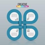 Infographic design- och marknadsföringssymboler kan användas för workfloworienteringen, diagrammet, årsrapporten, rengöringsdukde Arkivfoto