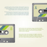 Infographic design with old school cassettes Stock Photo