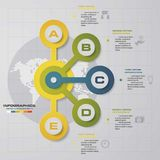 Infographic design with 5 options circles on the grey background. Eps 10 vector file Stock Images