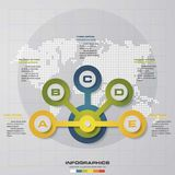 Infographic design with 5 options circles on the grey background. Eps 10 vector file Stock Photos