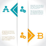 Infographic design with options and their description Royalty Free Stock Photo