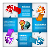 Infographic design - original geometrics Royalty Free Stock Photos