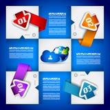 Infographic design - original geometrics Stock Photo