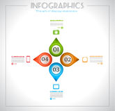 Infographic design - original geometrics Royalty Free Stock Photo