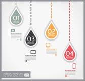 Infographic design - original geometrics Stock Images