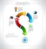 Infographic design - original geometrics Stock Photos