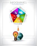 Infographic design - original paper Stock Photography