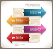 Infographic design - original paper tags Royalty Free Stock Images