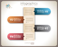 Infographic design - original paper tags Stock Photography