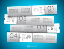 Infographic design - original paper tags Royalty Free Stock Photography