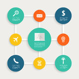 Infographic design with paper creative icons. Stock Photo