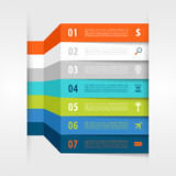 Infographic design with paper creative lines. Stock Photography