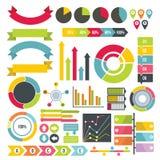 Infographic design parts icons set, flat style. Infographic design parts icons set. Flat illustration of 16 infographic design parts icons for web royalty free illustration