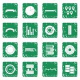 Infographic design parts icons set grunge Royalty Free Stock Image
