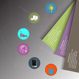 Infographic design polygon style on background and business concept,  illustration Royalty Free Stock Images