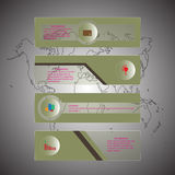 Infographic design polygon style creative on background and business concept,  illustration Stock Photo