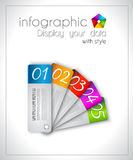 Infographic design for product ranking Stock Photos