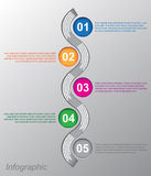 Infographic design for product ranking Royalty Free Stock Photo