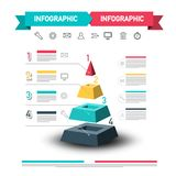 Infographic Design with Pyramid and Data Flow. vector illustration