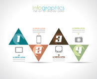 Infographic-Design-Schablone mit moderner flacher Art. Stockfotos