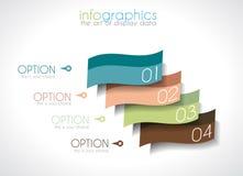 Infographic-Design-Schablone mit moderner flacher Art. Stockbilder