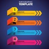 Infographic-Design-Schablonen- und Marketing-Vektorikonen Stockfoto