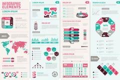 Infographic Design Set Stock Photo