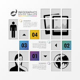 Infographic design with squares. Business template. Vector. Illustration Stock Images