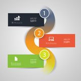 Infographic Design. Steps, Order, Progress Concept - Abstract Modern Colorful Numbered Banners - Infographic Card or Cover Design Template with Icons Royalty Free Stock Photo