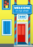 Infographic design of store house. Eps 10 vector file. Infographic design of store house. Eps 10 vector file Royalty Free Stock Photos