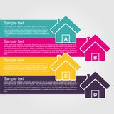 Infographic design style colorful house. Royalty Free Stock Images
