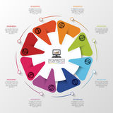 Infographic design template. Business circle. Vector illustration Royalty Free Stock Image