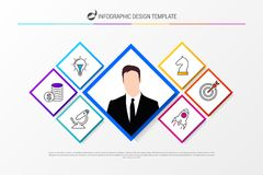 Infographic design template. Business concept with icons. Vector illustration royalty free illustration