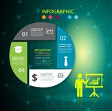 Infographic design template and business concept with 4 options royalty free illustration