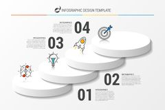 Infographic design template. Business concept with 4 options. Vector illustration Royalty Free Stock Images