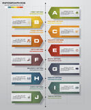 Infographic design template and business concept with 10 options, parts, steps or processes. Can be used for work flow layout, diagram, number options, web Stock Photography