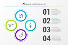 Infographic design template. Business concept with 4 steps. Can be used for workflow layout, diagram, banner, webdesign. Vector illustration Royalty Free Stock Photo