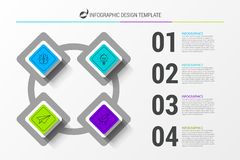 Infographic design template. Business concept with 4 steps. Can be used for workflow layout, diagram, banner, webdesign. Vector illustration royalty free illustration