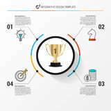 Infographic design template. Business concept with 4 steps Stock Images
