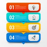 Infographic design template. Business concept with 4 steps. Can be used for workflow layout, diagram, banner, webdesign. Vector illustration Royalty Free Stock Image