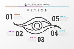 Infographic design template. Business concept with 5 steps. Can be used for workflow layout, diagram, banner, webdesign. Vector illustration Royalty Free Stock Photos