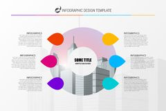 Infographic design template. Business concept with 6 steps. Can be used for workflow layout, diagram, banner, webdesign. Vector illustration Royalty Free Stock Image