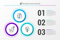 Infographic design template. Business concept with 3 steps. Can be used for workflow layout, diagram, banner, webdesign. Vector illustration royalty free illustration